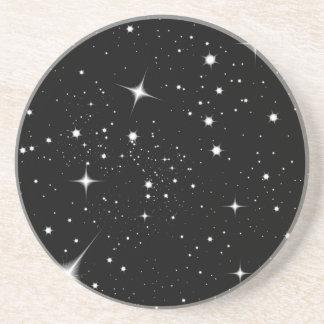 Porta copos do arenito da noite estrelado