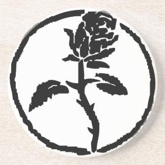 Porta copos do rosa do preto