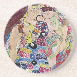 Porta-copos Donzela (Virgin), Gustavo Klimt, arte Nouveau do