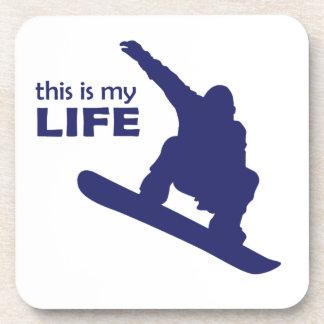 Porta-copos Esta é minha vida (a snowboarding)