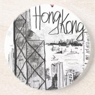 Porta-copos Eu amo Hong Kong