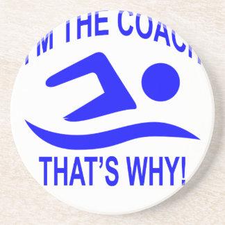 Porta-copos Eu sou os t-shirt do treinador é por isso; .png