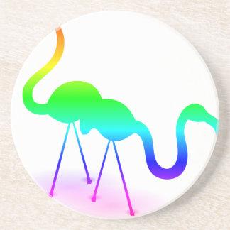 Porta-copos Flamingos do arco-íris