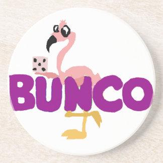 Porta-copos Jogo engraçado dos dados de Bunco e flamingo