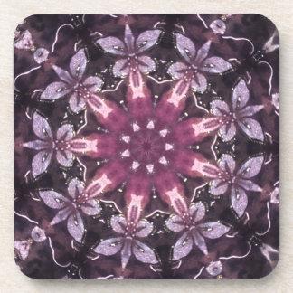Porta-copos Mandala floral preta bonito de Borgonha