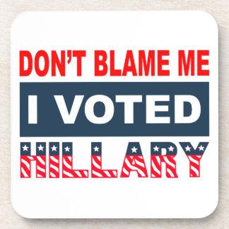 Porta-copos Não me responsabilize que eu votei Hillary
