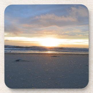 Porta-copos Nascer do sol exterior da praia dos bancos