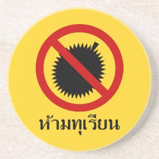 Porta-copos NENHUM ⚠ tailandês do sinal do ⚠ da fruta do