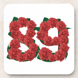 Porta-copos Número flor de 89 ou 89th aniversários