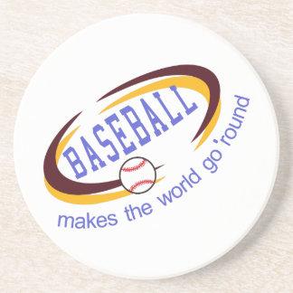 Porta-copos O basebol é um esporte do divertimento que toma
