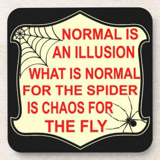 Porta-copos O Normal é uma ilusão o que é normal à aranha