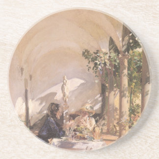 Porta-copos Pequeno almoço no Loggia por Sargent, Victorian do
