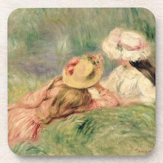Porta-copos Pierre raparigas de Renoir um | no banco de rio