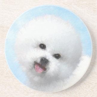 Porta-copos Pintura de Bichon Frise - arte original bonito do