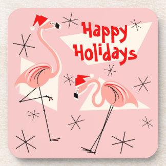 Porta-copos Plástico do rosa de Santa do flamingo boas festas