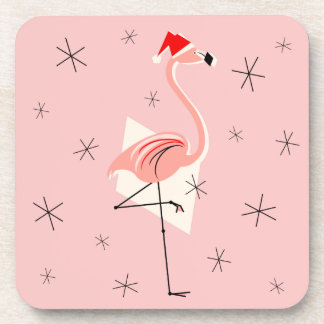 Porta-copos Portas copos cor-de-rosa do papai noel do flamingo