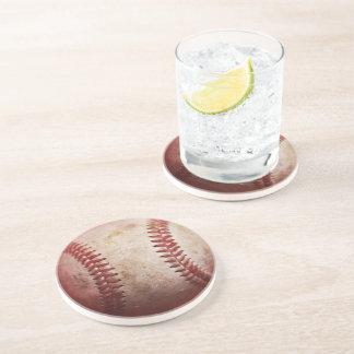 Porta-copos Portas copos redondas do arenito do basebol