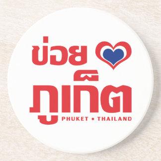Porta-copos ❤ Tailândia de Khoi Huk (coração/amor de I) Phuket