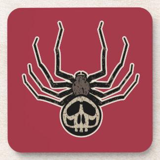 Porta-copos Tatuagem da aranha e do crânio