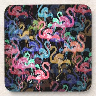 Porta-copos Teste padrão do flamingo