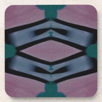 Porta-copos Teste padrão moderno artístico magenta azul