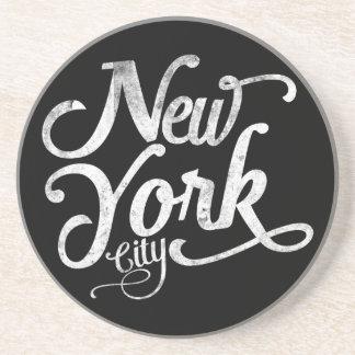 Porta-copos Tipografia do vintage da Nova Iorque