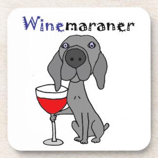 Porta-copos Vinho tinto engraçado do bebendo do cão de