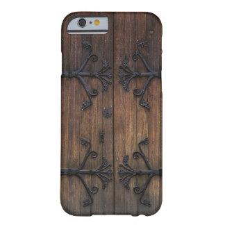 Porta de madeira velha bonita capa barely there para iPhone 6