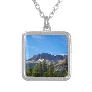 Porta de prata Montana Colar Banhado A Prata