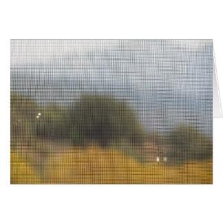 Porta de tela, Napa Valley Cartão Comemorativo