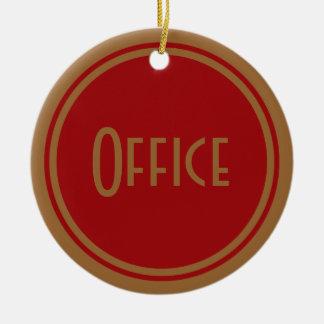 Porta do escritório do art deco ornamento de cerâmica redondo