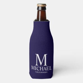Porta-garrafa Azuis marinhos modernos padrinho de casamento