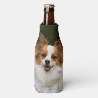 Porta-garrafa Garrafa-Jaqueta romântica bonito do retrato do cão