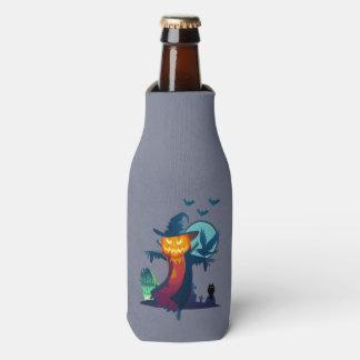 Porta-garrafa O Dia das Bruxas assombrou o espantalho com
