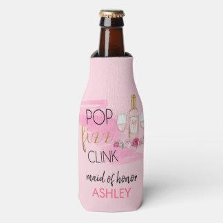 Porta-garrafa POP. FIZZ. CLINK. Refrigerador da garrafa da festa