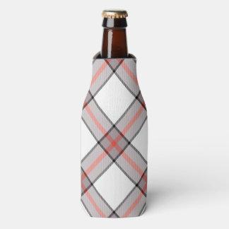 Porta-garrafa Xadrez cinzenta vermelha