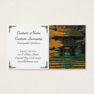 Porta japonesa oriental legal do santuário da cartão de visitas