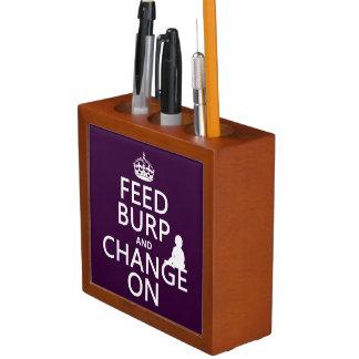 Porta Lápis Alimente o Burp e mude-o em (bebê) (alguma cor)