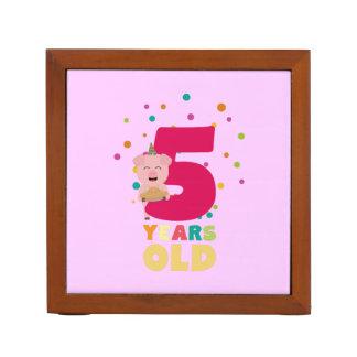 Porta Lápis Cinco anos de quinta festa de aniversário idosa