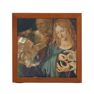 Porta-lápis Cristo entre os doutores c1506