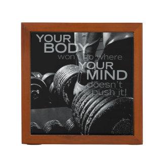Porta-lápis Empurre seus mente e corpo - exercício inspirador