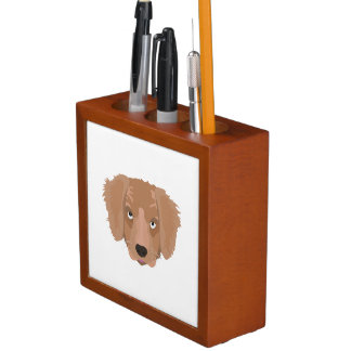 Porta-lápis Filhote de cachorro insolente bonito