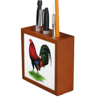 Porta Lápis Gamecock:  Escuro - vermelho
