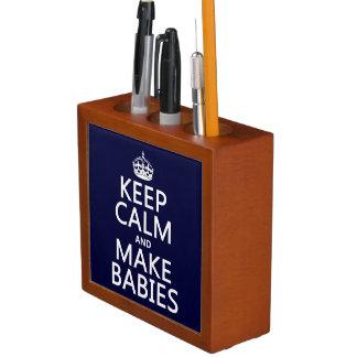 Porta Lápis Mantenha calmo e faça bebês (em alguma cor)