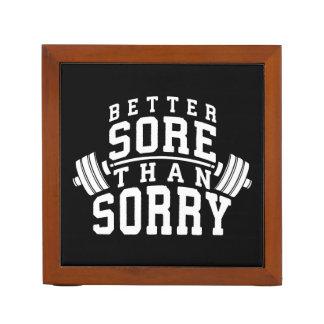 Porta Lápis Motivação do exercício - melhor dorido do que