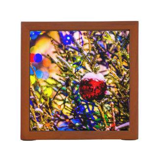 Porta Lápis Vermelho da bola do Natal