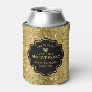 Porta-lata 50th Aniversário de casamento & damascos florais
