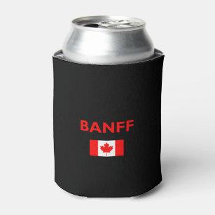 Porta-lata Cor escura da bandeira canadense de Banff Canadá