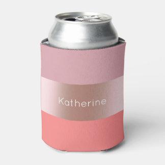 Porta-lata Coral cor-de-rosa do rosa do ouro do pintinho