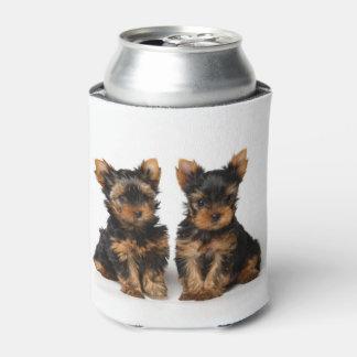 Porta-lata Dois filhotes de cachorro pequenos